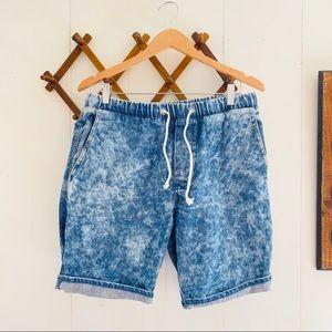 H&M Acid Wash Denim Shorts